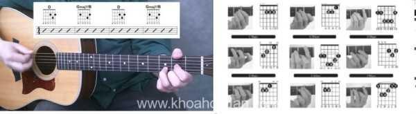 Các bước đọc biểu đồ hợp âm đàn guitar