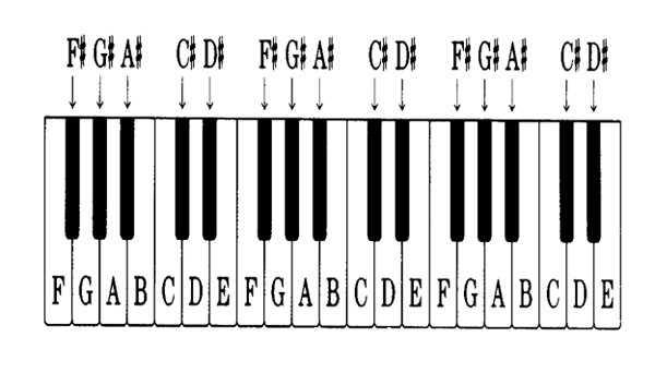Vị trí các nốt trên phím đàn piano